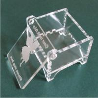 Buy cheap acrylic clear print & engraved  small storage box with the cover from wholesalers