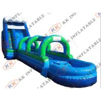Anti Friction Commercial Inflatable pool Water Slide PVC tarpaulin For Adult Manufactures