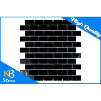 Buy cheap Pure Black Stone Mosaic Wall Tiles Subway Home Flooring Tile for Bath / Bathroom / Shower Wall from wholesalers