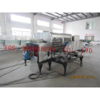 9.72Kw Automatic Glass Bottle Washing Machine With 8M Length Bottle Conveyer Manufactures