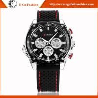 Buy cheap CURREN 8146 Black White Classic Watch Man Business Watch Silicone Strap Quartz Watches New from wholesalers
