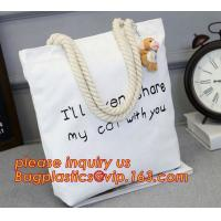 Buy cheap natural canvas cotton boat bag, cheap tote printed canvas bags,Washable canvas bag custom print canvas bag blank bagease from wholesalers