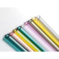 Wholesale Colored Straight Glass Drinking Straws , High Borosilicate Glass Straws from china suppliers