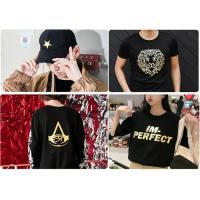 Wholesale China Supplier Gold/Silver Holographic Hot Stamping Foil Hot Foil Stamping On T-shirts/Leather/Sportswear By Heat Press from china suppliers
