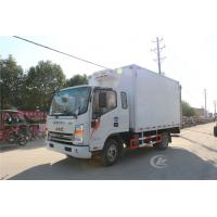 Buy cheap 3 Tons Refrigerated Box Truck , Ice Cream Milk Transport Cooling Roomfridge Freezer Truck from wholesalers
