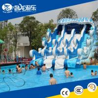 Buy cheap new inflatable water slide adult inflatable slide big pool water slide for sale from wholesalers