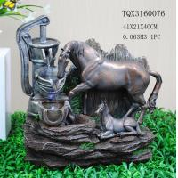 Buy cheap Horse Animal Large Resin Water Fountain With Flashing Light 40 X 30 X 41 Cm from wholesalers