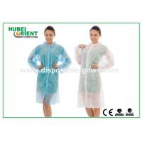 Polyethylene disposable lab gowns with Shirt Collar , CE Certificate