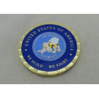 Buy cheap US Navy SEABEES Personalized Coins , Brass Die Stamped In 2.0 Inch For We Build We Fight Coin from wholesalers