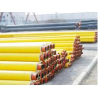 Buy cheap A53 - A369 Yellow Jacket Insulated Steel Pipe With PU Foamed 20# 35# 45# For Sewage / Electric Power from wholesalers