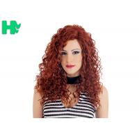 High Quality Synthetic Wigs Red Color No Lace Synthetic Curly Wigs Natural Looking Manufactures