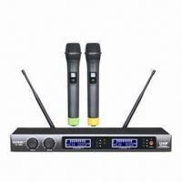 Buy cheap 740 to 790MHz Dual UHF Wireless Microphone with FM Modulation from wholesalers