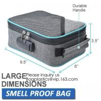 Buy cheap Child Proof Travel Herb Storage Case Large Stand Up Carbon Lining Smell Proof Resealabe Ziplock Stash Bags bagease pac from wholesalers