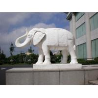 Buy cheap natural marble elephant stone carving sculpture from wholesalers