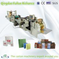 Wholesale Roll Square Bottom Automatic Shopping Paper Bag Making Machine with handle making from china suppliers