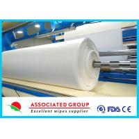 White Needlepunch Non Woven Roll Viscose & Polyester / Es / Pp 40~1200gsm Manufactures