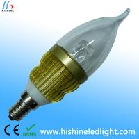Buy cheap Aluminum Alloy Black Cool White DC / AC12V , 3W Cool White LED Bulbs 3 years warranty from wholesalers
