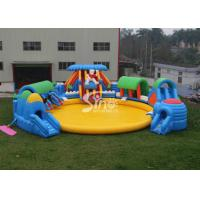 Buy cheap Custom Design Giant Inflatable Water Park Above Ground With Big Pool For Kids N Adults product