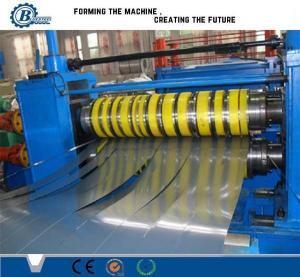 China Hydraulic Aluminum Steel Coil Slitting Line , Rolled Sheet Metal Slitting Machine on sale