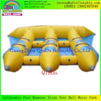 Quality Good Price 0.9mm PVC Tarpaulin 6 Person Inflatable Fly Fish Boat/Flying Fishing Boat for sale