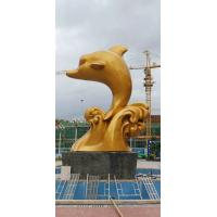 Buy cheap Amazing Modern Fiberglass Animal Sculptures Dolphin Shape 3 Meters Height from wholesalers