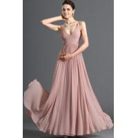 2013 A-line V-neck Ruffles Elegant Chiffon Floor Length Prom Dresses Online Manufactures
