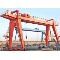 China Workshop Double Beam Driven Gantry Crane 10 Ton With Electric Trolley on sale
