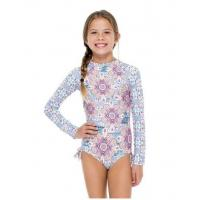 China Girls' One-piece Swimsuit With Long Sleeves - Azucar Rush on sale