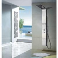 Buy cheap 4 Body Jets Chrome Thermostatic Shower Panels with Rain Shower Head from wholesalers
