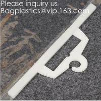 Buy cheap Custom Logo Printing EVA Garment Underwear Clothes Packaging Transparent Button Pvc Soft Plastic Hanger Hook Bag Package from wholesalers