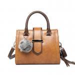 Buy cheap Lady bag 2017 winter new design handbag Korean Fashion Shoulder Bag Large capacity Cross body bag with Fuzzy ball tassel from wholesalers