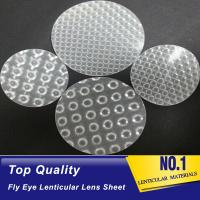 Buy cheap new fly eye lens lenticular film lens sheet both sides dot 3d lens sheet fly eye lenticular material from wholesalers