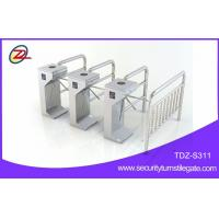 Station automatic fingerprint scanner turnstile gate with access control card Manufactures