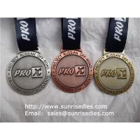 Buy cheap Alloy engraved medal with lanyard, China medal manufacturer for OEM metal medals from wholesalers