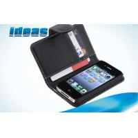 Buy cheap Black 4S 4G Apple iPhone Leather Cases and Wallet Protection For Men from wholesalers