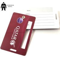 Buy cheap PersonalizedPVC Business Cards Offset Printing , Travel Luggage Name Tag Airlines supply from wholesalers