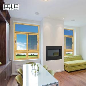 Living Room Anodised Aluminium Sliding Windows / Aluminium Double Glazed Windows 4mm