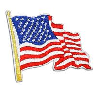 Buy cheap American flag labels heat - seal embroidery patches and badges  from wholesalers