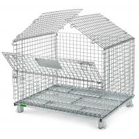 Buy cheap Wire Mesh Container, Metal Storage wire container,  foldable warehouse storage  steel wire mesh basket folding wire cage from wholesalers