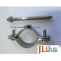 Wall Mount Pipe Bracket Cast Iron Pipe Clamps With Nut Tapping Screw Nylon Plug Manufactures