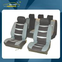 Wholesale Car Interior Accessories Washable Black / Gray Automotive Seat Covers , 9PCS Per Set from china suppliers