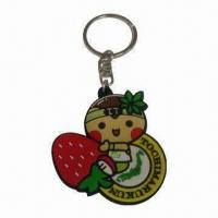 Wholesale 3-D Soft PVC Keychain, Suitable for Promotional Gifts, Customized Logos and Designs are Accepted from china suppliers