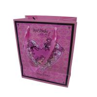 Buy cheap custom folded little paper carrier bags for gift packaging factory from wholesalers