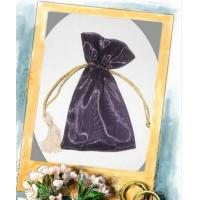 Buy cheap Purple Organza Drawstring Pouch , Gift Organza Packaging With Ribbon from wholesalers