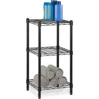Buy cheap Office Commercial Wire Shelving Towel Toiletries Carbon Steel Black Epoxy Storage Table from wholesalers
