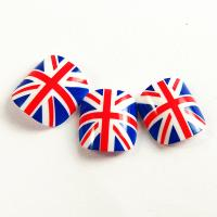 Union jack design Fake Toe Nails With Imported nail glue Manufactures