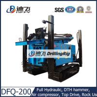 Buy cheap 200m DFQ-200 DTH pneumatic used Drilling Rig on Crawler Mounted, Hard Rock Drilling Rig from wholesalers