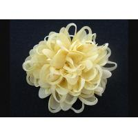 Buy cheap Bright Yellow  Up To 70% Discount Chrysanthemum Pattern Fabric Flower Brooch Pin from wholesalers