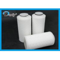 PTFE Pleated 0.22 Micron Filter Cartridge Electronic Industry Use