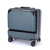 Wholesale Combination Lock 0.8mm Green Business Travel Suitcase from china suppliers